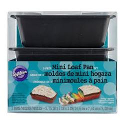 PACK 3 MINI MOLDES RECTANGULARES LOAF PAN W