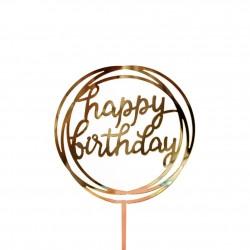 TOPPER HAPPY BIRTHDAY REDONDO DOBLE