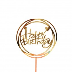 TOPPER HAPPY BIRTHDAY REDONDO DOBLE DIVER