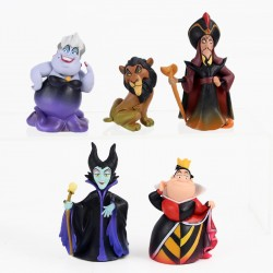 SET 5 FIGURAS VILLANOS DISNEY