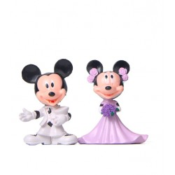 SET 2 FIGURAS MICKEY Y MINNIE BODA ROSA PEQ