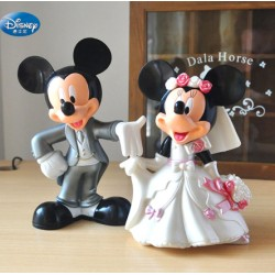 SET 2 FIGURAS MICKEY Y MINNIE BODA BLANCO PEQ