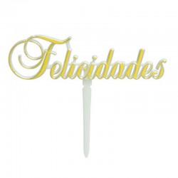 PICK FELICIDADES DORADO