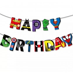 GUIRNALDA HAPPY BIRTHDAY SUPER HEROES