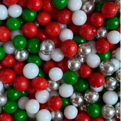 PERLAS MIX VERDE ROJO BLANCO 3 MM BOTE