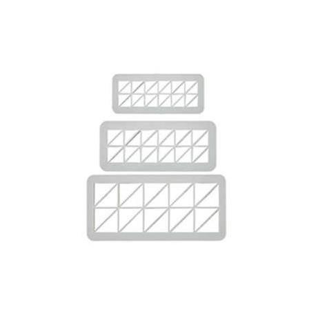 SET 3 CORTADORES Y MARCADORES GEOMETRICOS TRIANGULOS DESIGUALES