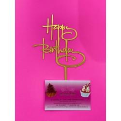 TOPPER HAPPY BIRTHDAY FINE LINE ORO ESPEJO