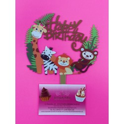 TOPPER HAPPY BIRTHDAY ANIMALES DE LA SELVA