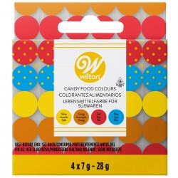 SET 4 COLORANTES PARA CHOCOLATE CANDY WILTON