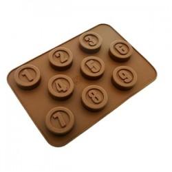MOLDE CHOCOLATE 9 NUMEROS  SILICONA