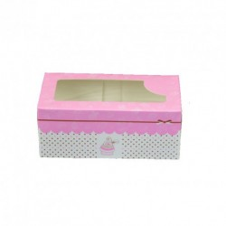 CAJA 2 CUP CAKES ROSA