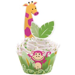 CUPCAKE WRAP KIT JUNGLA WILTON
