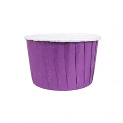 BAKING CUP COLOURED 24 PURPURA