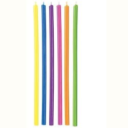 12 VELAS LARGAS COLORES WILTON