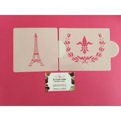 SET 2 STENCIL PARIS Y FLOR DE LIS