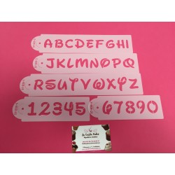 SET STENCIL LETRAS DISNEY