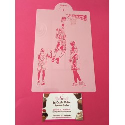 STENCIL BALONCESTO LAKERS