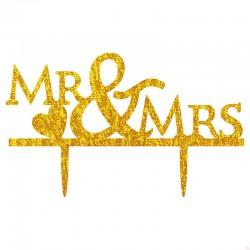 TOPPER MR&MRS DORADO BRILLANTE