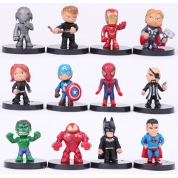 SET 12 FIGURAS MINI SUPERHEROES MARVEL