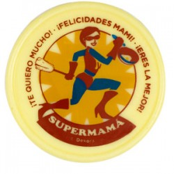 PLACA CHOCOLATE SUPERMAMA