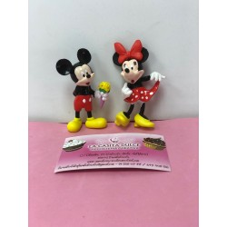 SET 2 FIGURAS MICKEY Y MINNIE MERIENDA