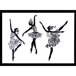 STENCIL FAIRY DANCERS
