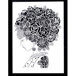 STENCIL ROSES WOMAN