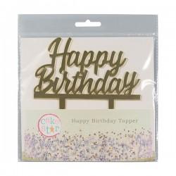 TOPPER HAPPY BIRTHDAY ORO