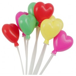 GLOBOS CORAZON COLORES PVC TOPPER
